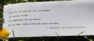 Schwerpunktwoche 'Hörspiele von Bernhard Kathan'