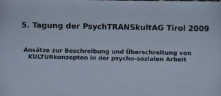 5. Tagung der PsychTRANSkultAG Tirol 2009